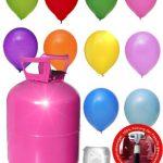 Helium für Luftballons als witziger Partyspaß – BalloonTime Heliumflasche mit 250 Liter Ballongas – Große Helium Einwegflasche als Partyzubehör – Luftballongas für bis zu 30 Ballons
