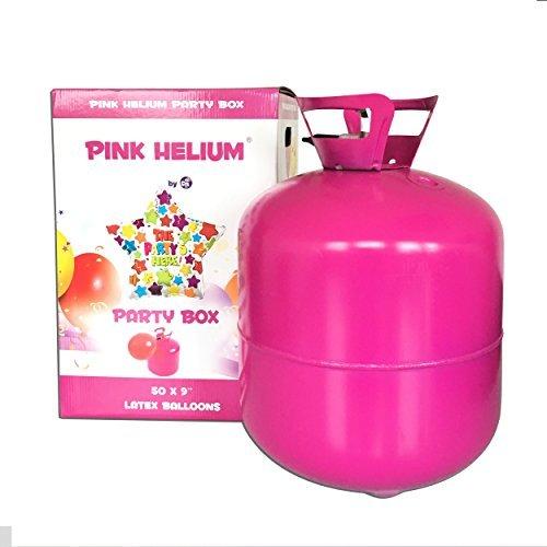 xxl helium ballongas heliumflasche 420 liter 042 m³ befuellen von ca 50 luftballons mit einem durchmesser von 23cm leichtes befuellen durch knickventil perfekt fuer deine party hochzeit - XXL Helium Ballongas Heliumflasche 420 Liter (0,42 m³), befüllen von ca. 50 Luftballons mit einem Durchmesser von 23cm - leichtes Befüllen durch Knickventil - perfekt für deine Party, Hochzeit, Feier, Geburtstag, Festival