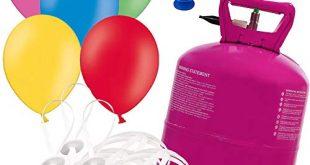 Helium Ballongas inkl 50 Luftballons O 23 cm mit 50 310x165 - Helium Ballongas inkl. 50 Luftballons Ø 23 cm mit 50 Schnellverschlüssen Party Gas Komplettset + Doriantrade Seifenblasen
