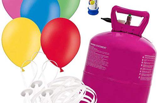Helium Ballongas inkl 50 Luftballons O 23 cm mit 50 500x330 - Helium Ballongas inkl. 50 Luftballons Ø 23 cm mit 50 Schnellverschlüssen Party Gas Komplettset + Doriantrade Seifenblasen